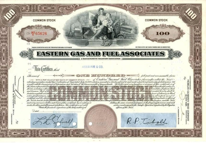 EASTERN GAS AND FUEL ASSOCIATES von 1963 Nr.65626
