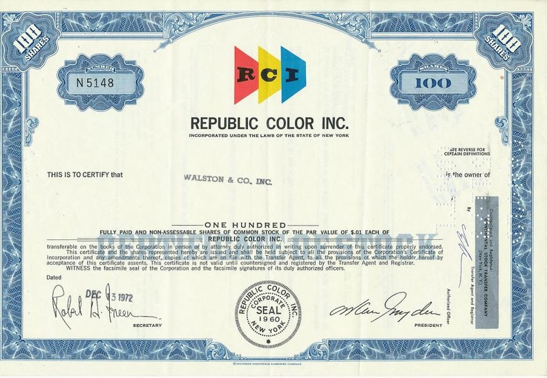 REPUBLIC COLOR INC. von 1972 Nr. N5148.JPG